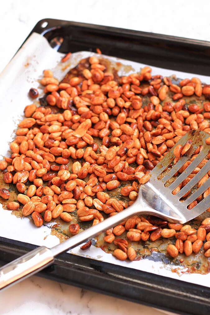 You haven't lived until you have tried these homemade honey roasted peanuts!
