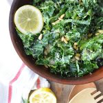 Make this delicious massaged kale salad with our popular tangy tarragon lemon dressing. The sour lemon, tarragon, parmesan cheese and olive oil pairs perfectly with kale.