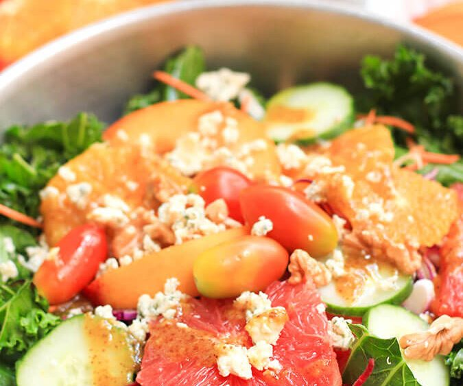 This vibrant, fresh and tasty kale salad is so good! You will never have another kale salad this delicious.