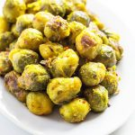These roasted brussels sprouts are so addictive! I could eat these every day. You need to try this recipe.