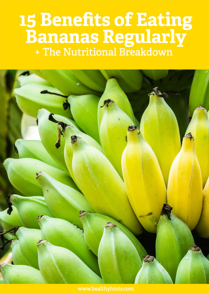 Learn about all the amazing benefits of bananas and see 15 really good reasons to eat 1 banana every day.