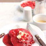 Beet Greek Yogurt Pancakes