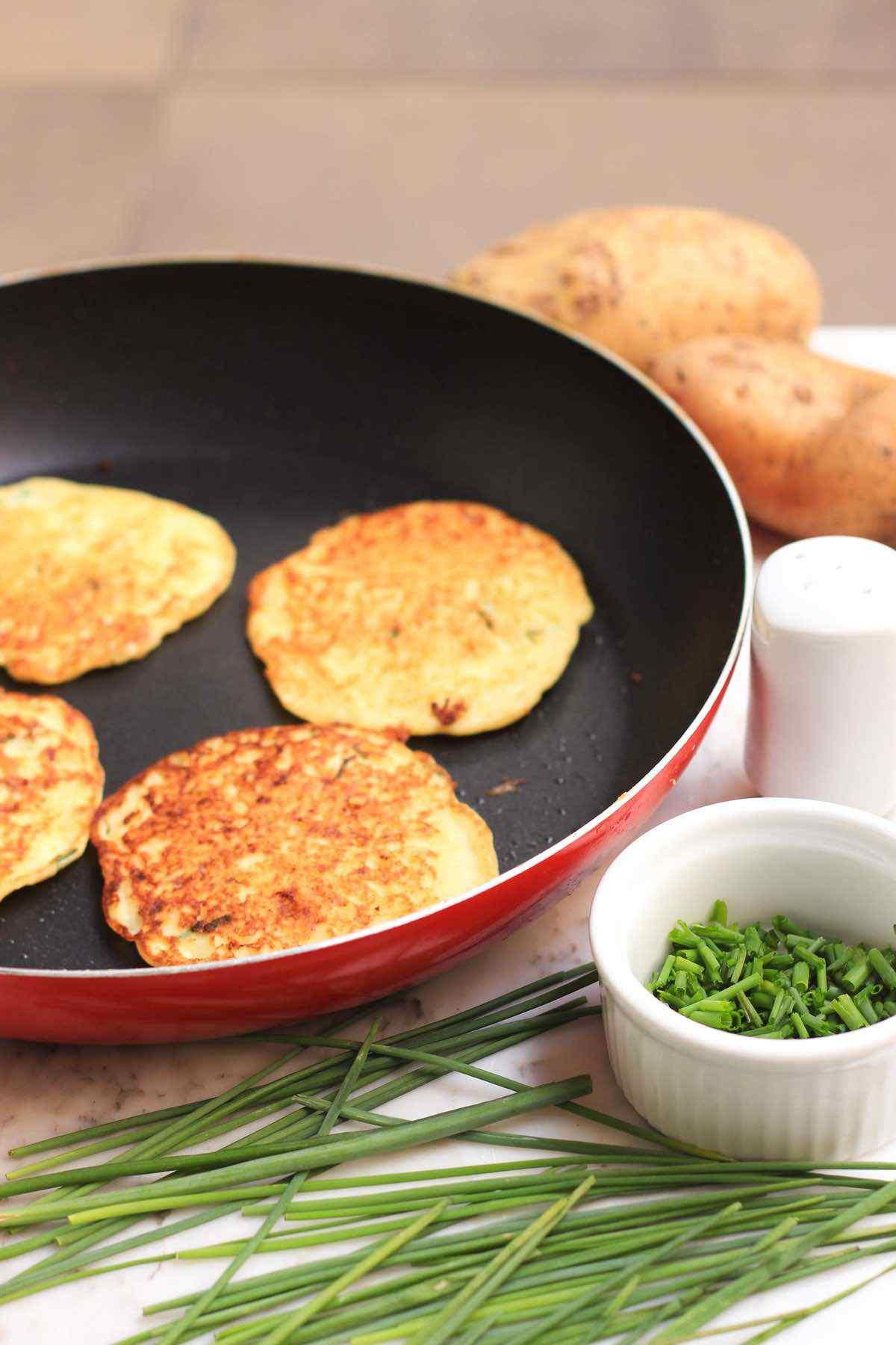 Chive Potato Pancakes