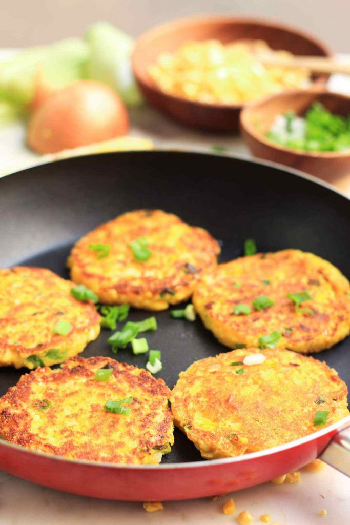 Sweet Corn Scallion Pancakes