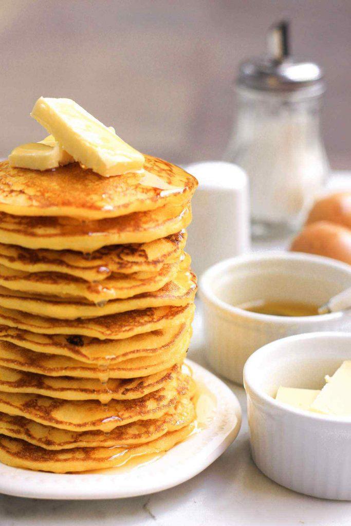 Gluten-Free Cornmeal Pancakes