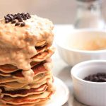 Peanut Butter Chocolate Chip Protein Pancakes