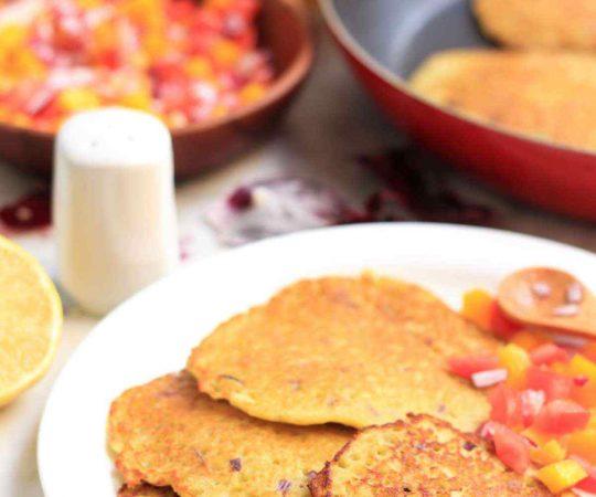 Pea Pancakes